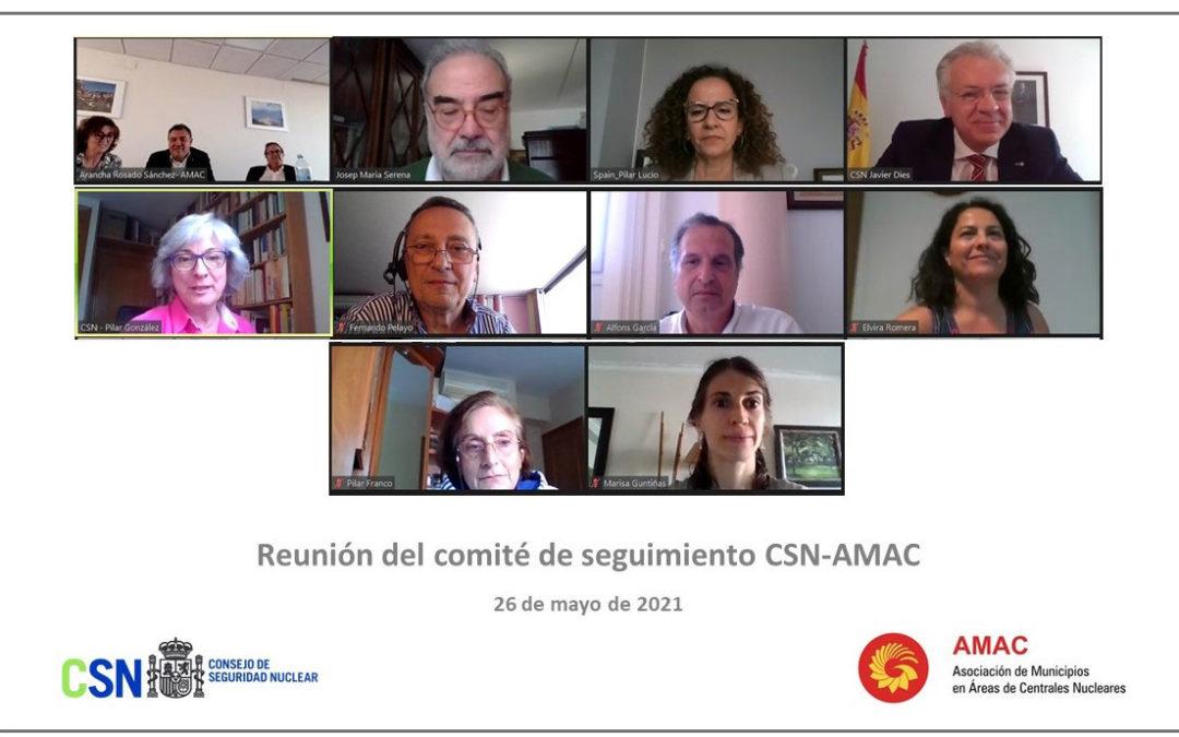 El CSN y la Asociación de Municipios en Áreas de Centrales Nucleares (AMAC) mantienen la octava reunión de su comité de gestión